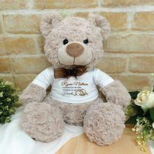 Angel Memorial Baby Bear Shaggy Brown