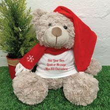 Custom Christmas Bear Shaggy Brown