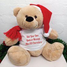 Personalised Christmas Bear 40cm Custom T-Shirt