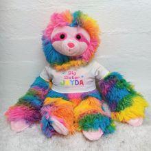 Personalised Big Sister Rainbow Sloth Plush