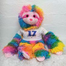 Personalised Birthday Rainbow Sloth Personalised shirt