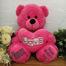 Mum Bear With Pink Heart 30cm