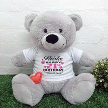 Recordable 21st Birthday Teddy Bear Grey 40cm