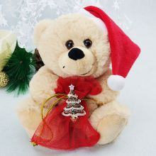 Christmas Bear with Gift Bag & Tree Brooch