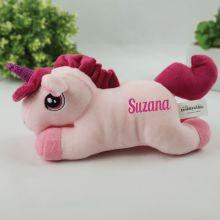 Personalised Pink Unicorn Plush Toy