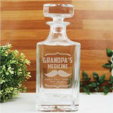 Grandpa Engraved Personalised Whisky Decanter 700ml