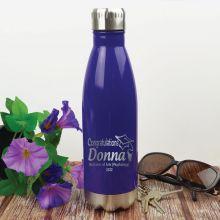 Graduation Engraved Stainless Steel Drink Bottle - Purple