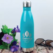 Football Coach Engraved Stainless Steel Drink Bottle - Teal
