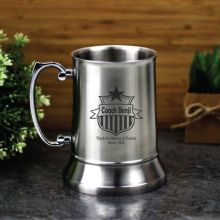 Coach Engraved Stainless Steel Beer Stein Glass