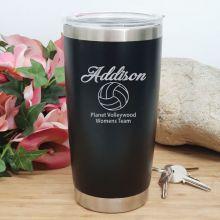 Netball  Coach Engraved Insulated Travel Mug 600ml Black