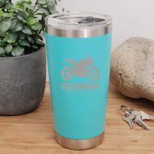 Personalised Insulated Travel Mug 600ml Teal (M)