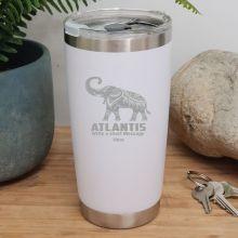 Personalised Insulated Travel Mug 600ml White (F)