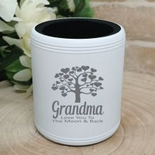 Grandma Engraved White Can Cooler Personalised Message