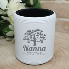 Nana Engraved White Can Cooler Personalised Message