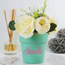 Scented Cream Floral Arrangement in Ceramic Pot