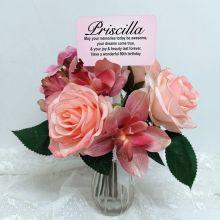 80th Birthday Rose Cymbidium Bouquet Personalised Picket