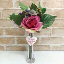 Scented Floral Arrangement  & Vase w/ 60th Tag