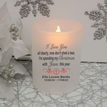 Christmas with Jesus Memorial Tea Light Candle Holder