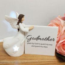 Personalised Godmother Light Me Up LED Angel