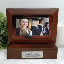 Grad Wooden Photo Keepsake Trinket Box