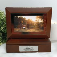 Mum Wooden Photo Keepsake Trinket Box