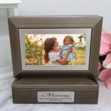Mum Photo Keepsake Trinket Box - Charcoal Grey
