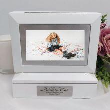 16th Photo Keepsake Trinket Box - White