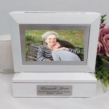 Memorial Photo Keepsake Trinket Box - White