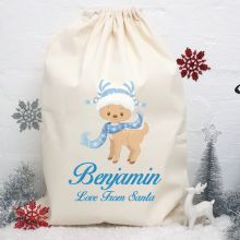 Personalised Christmas Santa Sack - Reindeer