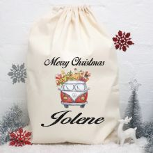 Personalised Christmas Santa Sack 80cm - Combi
