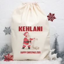 Personalised Christmas Santa Sack 80cm - Santas List