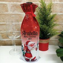 Christmas Wine Bottle Cover - Santa