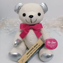 Personalised Coach Signature Bear - Pink Bow