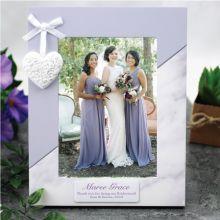 Personalised Bridesmaid Photo Frame 5x7 Heart