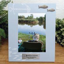 Personalised 80th Birthday Fishing Frame 6x4