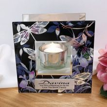 Personalised Butterfly Stained Glass Candle Holder