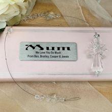 Personalised Mum Glass Angel Suncatcher
