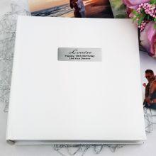 Personalised 18th Birthday Photo Album 200 - White