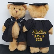 Personalised Graduation Teddy Bear with Glittered Cape