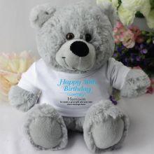 Personalised 30th Birthday Teddy Bear - Grey