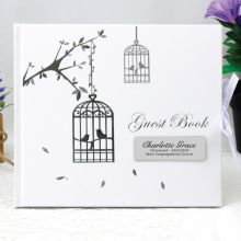 Christening Guest Book & Blessings -Bird Cage