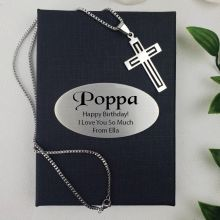 Pop Cross Pendant Necklace in Personalised Box
