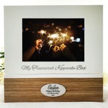 Personalised 80th Birthday Keepsake Photo Box