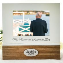 Personalised Memorial Keepsake Photo Box