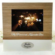 Personalised Birthday Memory Keepsake Box