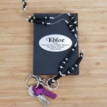 Coach Lanyard Key holder Necklace - Black