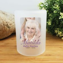 Memorial Photo Tea Light Candle Holder