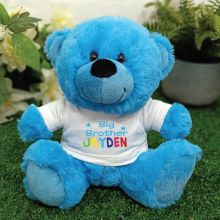 Brother Personalised Teddy Bear - Bright Blue