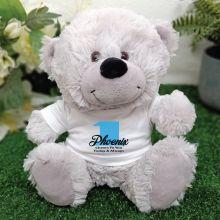1st Teddy Bear Grey Personalised Plush