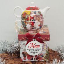 Santa Tea for One in Personalised Mum Gift Box